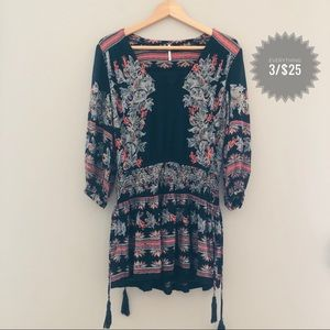 Women's FREE PEOPLE boho patterned dress